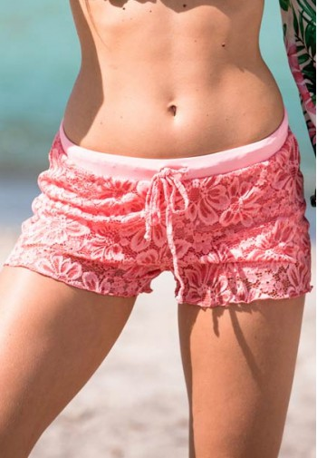 2BeKini Shorts Orange Lace