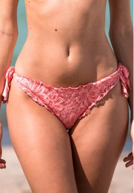 2BeKini Brasiliano con Fiocchi Frill Orange Lace