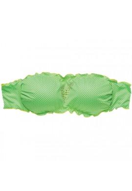 "2BeKini Fascia Frill ""Pois Verde"""