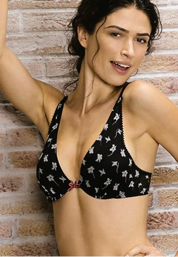 "Lovable Reggiseno Push up ""Flowery Black Tulle"""